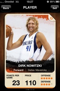 EuroBasket 2011 Cards iPhone App - Dirk Nowitzki's Profile