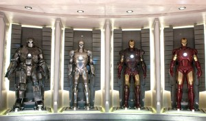 Four Iron Man Suits