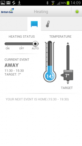 A screenshot of the myHome dashboard