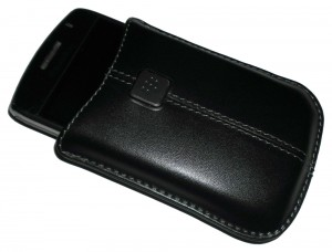 A BlackBerry Curve 8900 in its case