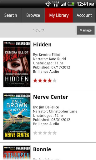 My Library in AudiobooksNow