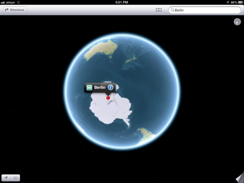Berlin, Antarctica - Apple Maps