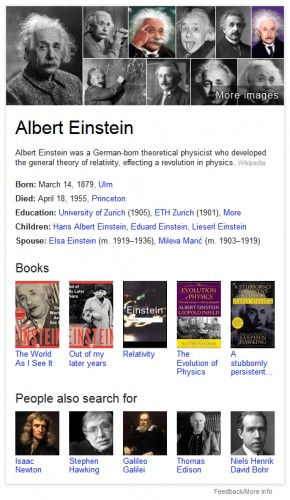 A Google Knowledge Graph example