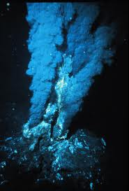 A hydrothermal vent under the ocean