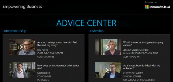 Economist Advice Centre screenshot